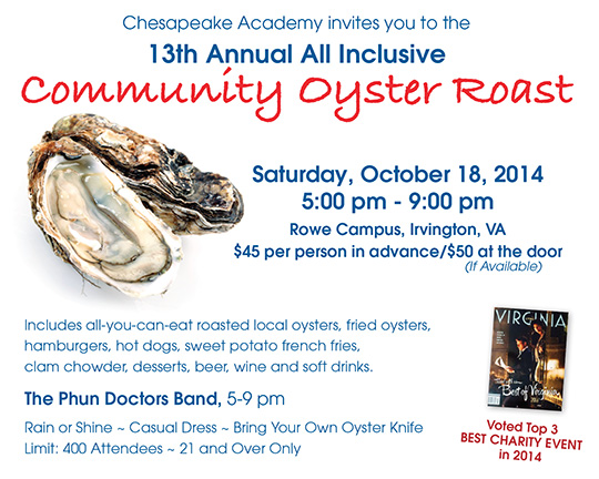 Community Oyster Roast -- Tickets Now Available!
